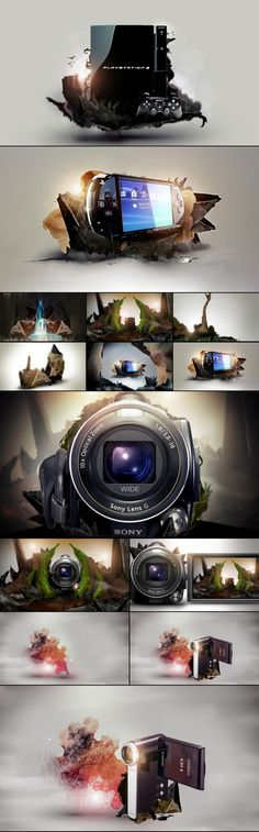 motion graphics/ storyboards/ styleframes | Sony Products Exhibit — Parallel Worlds / AngelsignStudio