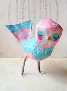 DIY: papier mache ideas, craft show ideas.-- other art ideas and inspiration Paper Clay, Diy Paper, Paper Art, Paper Crafts, Diy Crafts, Paper Mache Crafts For Kids, Elementary Art, Diy For Kids, Art Lessons