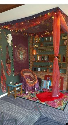Our Gypsy corner just have to pop a mattress in for a comfy day bed! Very relaxing little no Bohemian House Decor Bed Comfy corner Day Gypsy Mattress Pop relaxing Bohemian House, Bohemian Decor, Hippy Room, Boho Room, Boho Dekor, Hippie Home Decor, Hippie Apartment Decor, Hippie Bedroom Decor, Hippie Bedding
