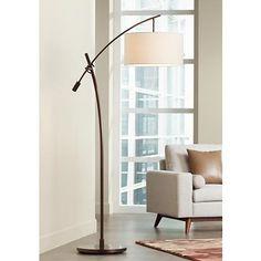 Adesso Harrison 68 in H Antique Bronze Arc Lamp