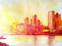 New York Aquarell