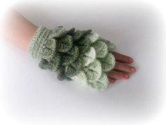 Fingerless Gloves  Green Shades of Green by Iovelycrochet on Etsy, $37.00