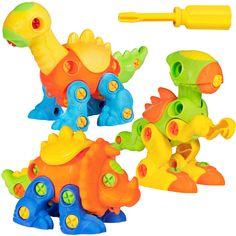 Build /& Learn Dinosaur Toys Interlocking Model STEM Play Set For Kids W//4 Builda