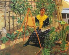 The Athenaeum - Young Girl Painting (Felix Vallotton - )