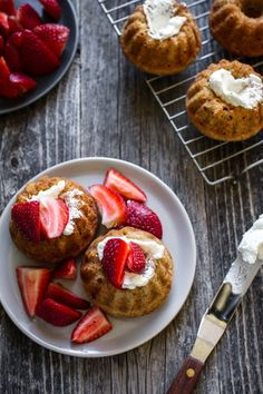 Mini strawberry shortcakes by Edible Perspective