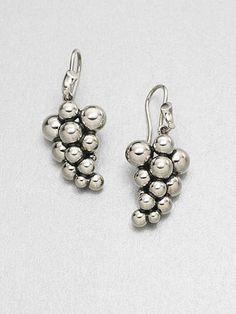 Georg Jensen Sterling Silver Grape Earrings