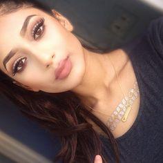 Pinterest : @Lovelyy_Amber97 ❤️ Beautiful natural brown smokey everyday makeup