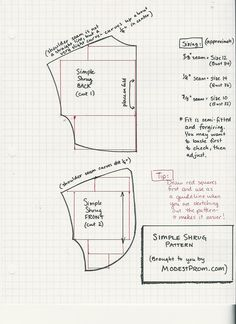 Simple bolero pattern and instructions Sewing Lessons, Sewing Hacks, Sewing Tutorials, Sewing Crafts, Sewing Patterns Free, Free Sewing, Clothing Patterns, Bolero Pattern, Jacket Pattern