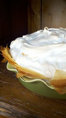 bourbon sweet potato pie w/ spiced brown sugar meringue from @Beth Nativ Kirby | {local milk}