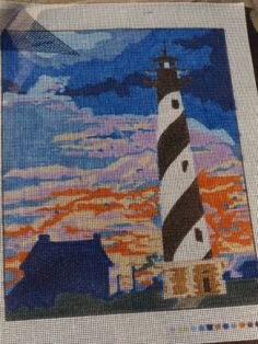 Cape Hatteras Light House Needlepoint Design by supplycloset for $7.50
