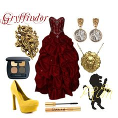 """Gryffindor (Harry Potter) PROM"" by colorsgalore on Polyvore"
