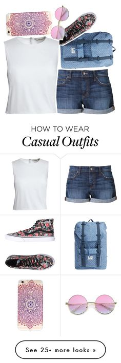 """""""casual stroll"""" by just-another-typical-fangirl on Polyvore featuring Herschel Supply Co., Joe's Jeans, Vans and Canvas by Lands' End"""
