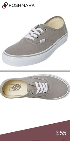 c68bc4001eb LOW TOP GREY VANS Brand New without box women s size men s Picture makes  shoes look darker but they reflect stock photo more than last 2 pics Vans  Shoes ...
