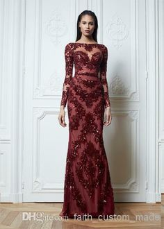 Dark Red Lace Bridesmaid Dresses