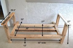Blueprint Of Day Bed Made From Pallets