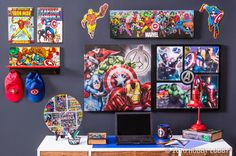 Your super-fan will love their new super-space filled with their favorite action-packed characters!
