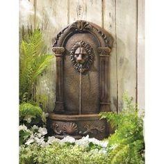 Lion`s Head Courtyard Fountain
