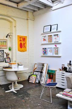El estudio de Lisa Congdon-Lisa Congdon´s studio.