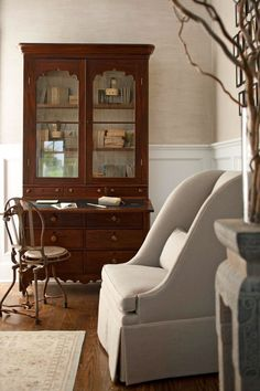 2011 Hampton Designer Showhouse: First Floor - Traditional Home Interior of cabinet white
