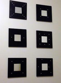 ikea mirror small square frames repurposed - Google Search ...