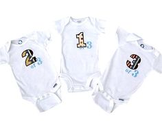 #Triplets applique embroidered gift set