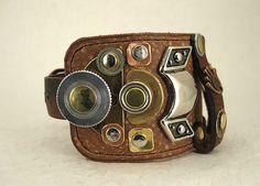 111 Steampunk Palimpsest Caligula Bracelet Recycled Jewelry Industrial Boho Art Deco Machine Age