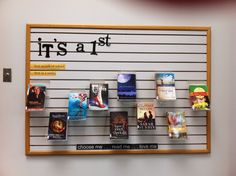 Beginning of year ; 1st books in series -- display at MEI Secondary Library