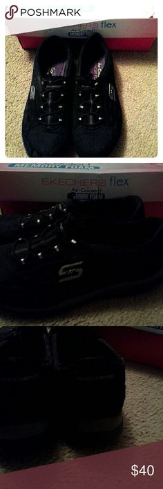 Skechers Flex shoes Air cooled memory foam. Worn once, been sitting in closet. Includes box. Skechers Shoes Athletic Shoes