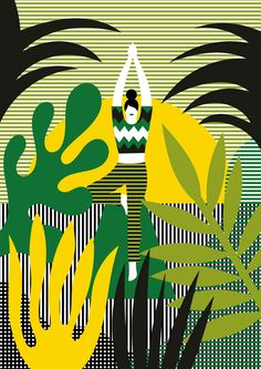 Series of illustrations for the launch of Missoni Baia, a luxury residence in Miami - Olimpia Zagnoli