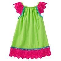 Flutter Dress Eyelet Green