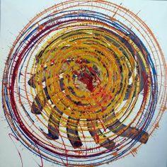Giuseppe Marchetti (Italia)  Smalti sintetici, pigmento metallico color oro e antiruggine su tela cm.70x70