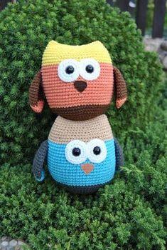 Háčkovaná Sovička – Jak háčkovat Hello Kitty, Crochet Hats, Character, Crochet Dolls, Amigurumi, Knitting Hats