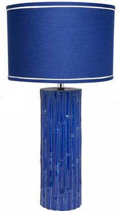 My Island Home - Ceramic Bamboo Lamp - blue