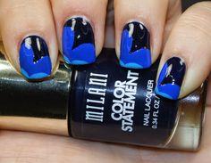 Princess Polish: Milani Color Statement Nail Art: The Blues Part 1