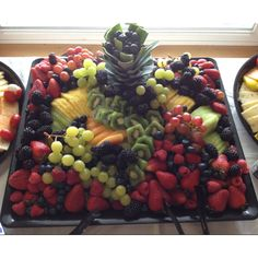 Fruit tray made did for a wedding ! #fruit  #tray