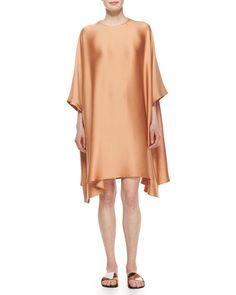B2ZL9 THE ROW 3/4-Sleeve Satin Caftan Dress