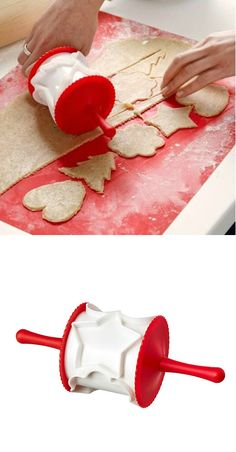 Get the holiday rolling with the VINTERKUL rolling pastry cutter that cuts perfect holiday shapes into your dough.