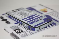 Deluxe R2D2 iPhone 4s / Verizon 4 Decal Skin by killerduckdecals, $10.00