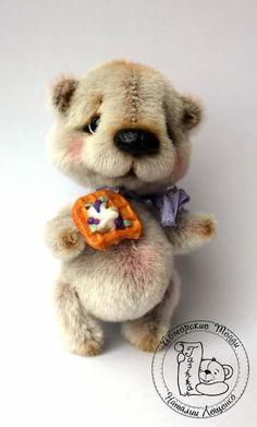 Mini Teddy bear Danny by Tashka's Bears