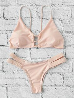 Shop Ladder Cutout Triangle Bikini Set online. SheIn offers Ladder Cutout Triangle Bikini Set & more to fit your fashionable needs.