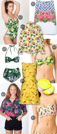 Fruit prints are sweet for summer.