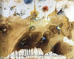 """The Mountains of Cape Creus on the March"" Salvador Dali 1967"