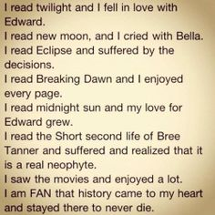 The grammatical ability of the average Twilight fan...the last fragmented half sentence is my favorite.