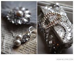 Love the jewelry on the old book :)
