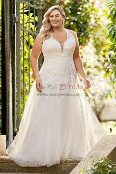 d791ae5fdec Plus Size Tulle Appliques A-Line Wedding dresses nw-412