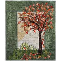 falling leaves quilting lines | Falling Leaves Art Quilt