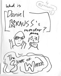 While waiting to interview talent like #DanielKrauss on #TheShapeOfWater #TIFF17 #redcarpet I drew #art of them as a conversation starter. I planned to ask them what's something in their life that was a monster at first but then they realized it wasn't as scary as they initially thought. Like the monster in the movie. (That's my assumption from the trailer anyway.)   #Toronto #celebrity #cartoon #Hollywood #entertainmentnews I am a: #celebrityinterviewer #entertainmentreporter #radiohost…