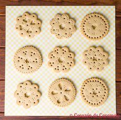 galletas de mantequilla encaje