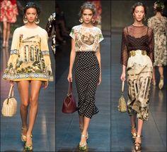 Gizli Leylak: Dolce &Gabbana 2014 İlkbahar - Yaz Koleksiyonu...