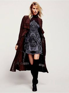 Free People Honey Moon Suede Duster, $700.00